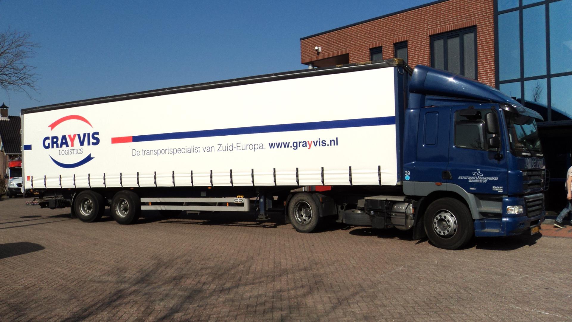 grayvis logistics vrachtwagen